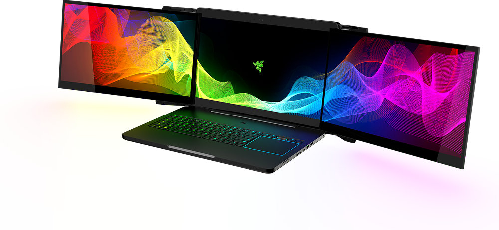 The Razer Laptop The First Ever Computing Device With 3-Display Monitors